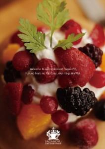 2014.12.18嵯峨野湯のフルーツのパンケーキ冬版