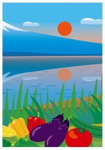 2016.8.16ジャパベンお弁当屋さんの「夏の富士山」(汐留&大手町)01