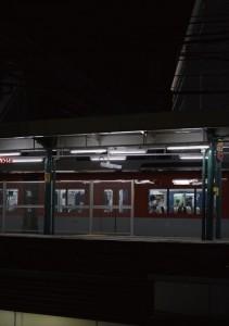2017.11.26御影駅、日が暮れ、立ち寄るミカゲコーヒーラボ