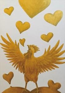 2017.7.30大手町テイクアブレイクの「黄金の鳥」「黄金の酉年」A golden bird-38